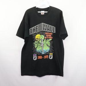 90s Mens Large Vietnam War Wall Memorial T Shirt